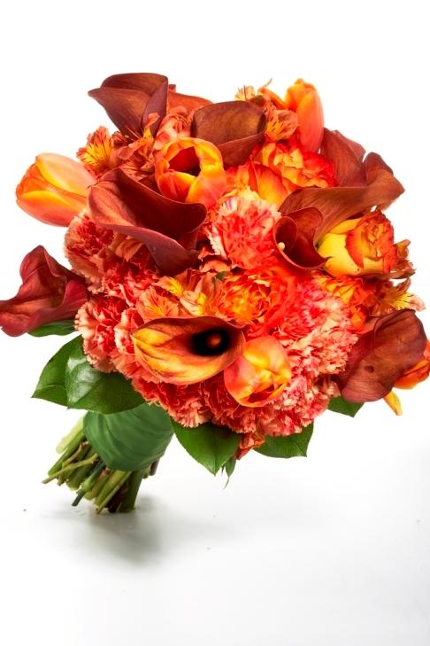 Orange Flowers Bouquet Orange Bridal Boquet Flowers