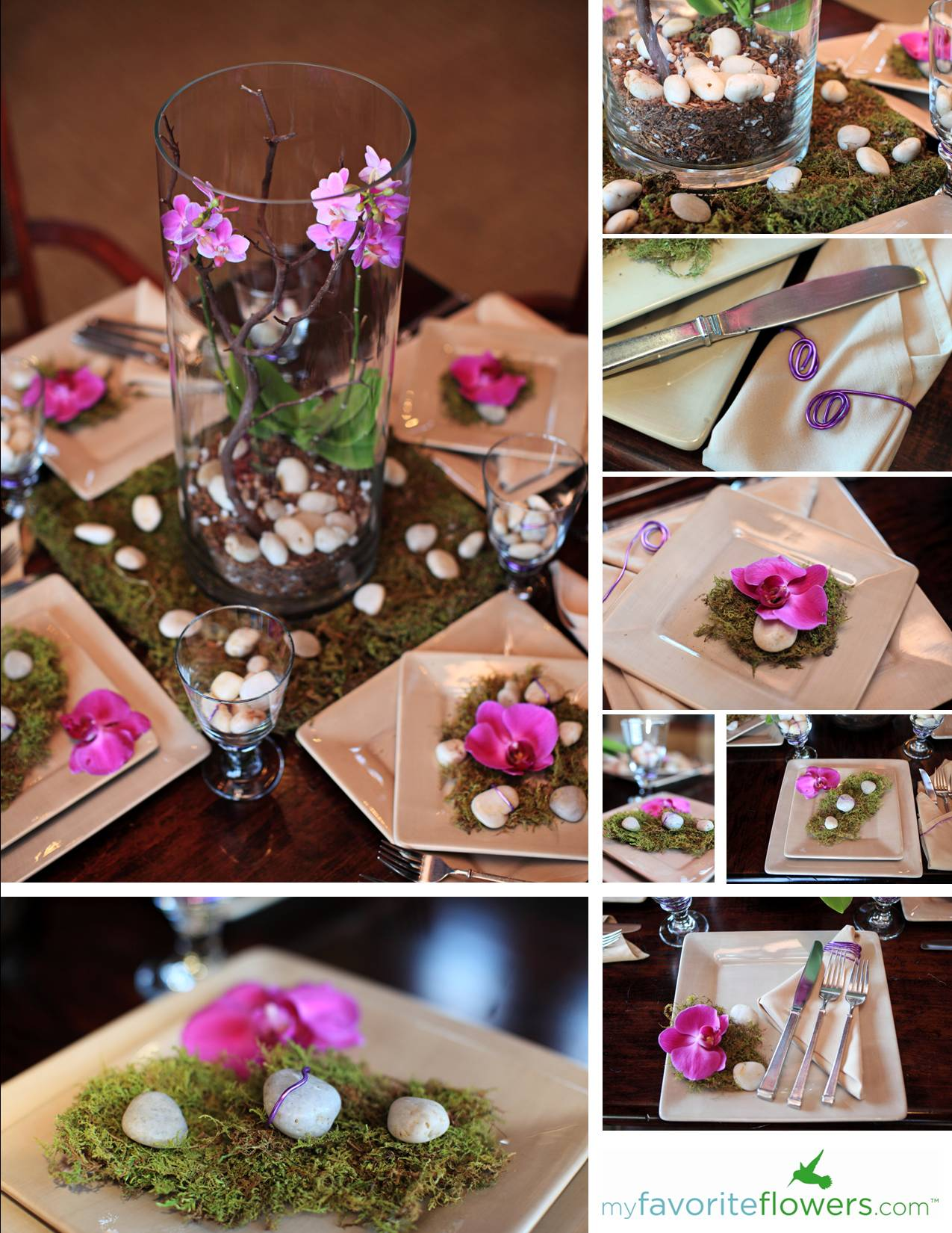Creative Idea For Wedding Flowers Orchids Rental
