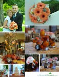 Peach wedding inspiration board