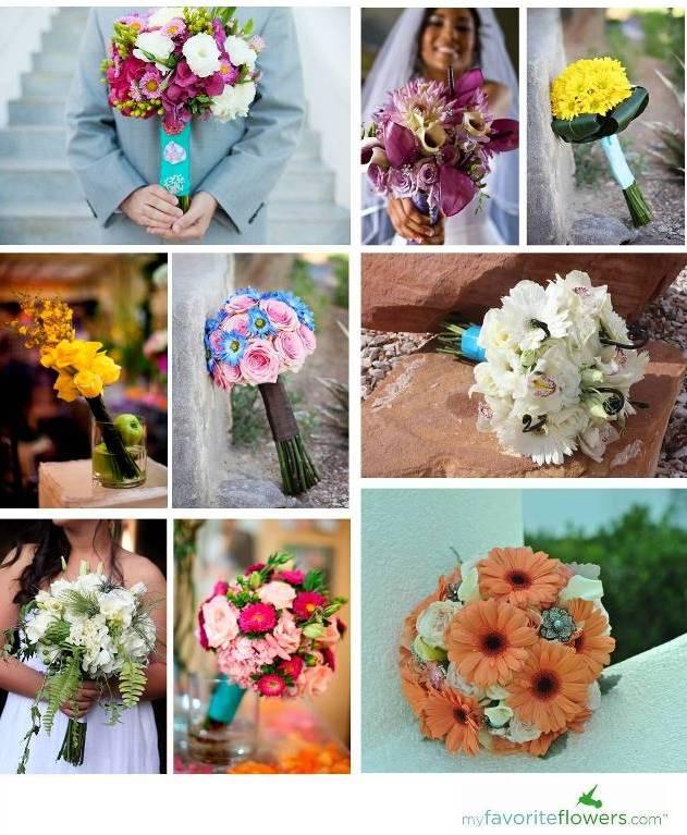 Pinkpurplewhitepeachgreen yellow spring bridal bouquets