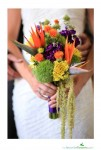 Unique fall bridal bouquet with unusual flowers
