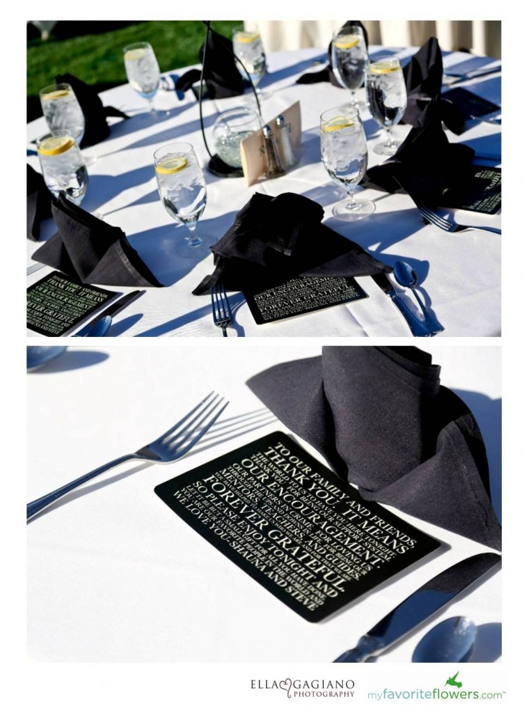 Black wedding setting ideas