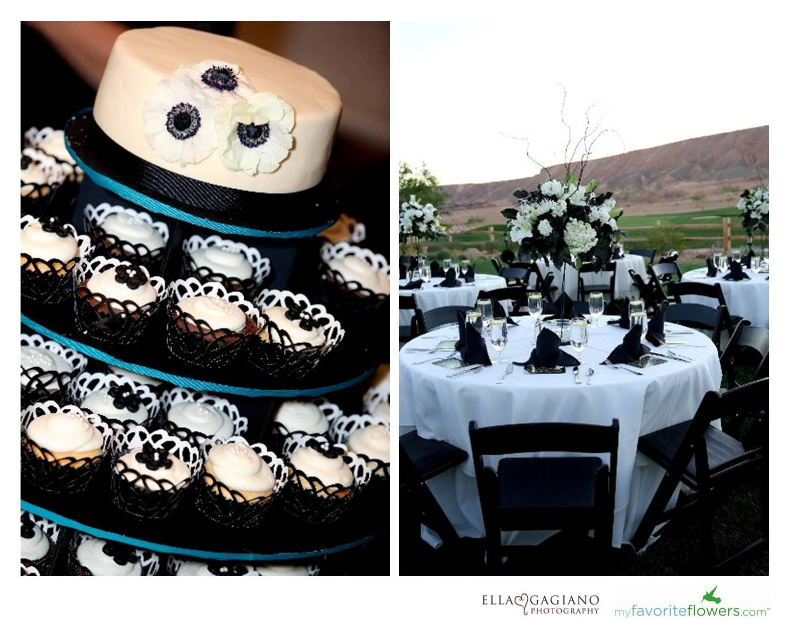 Real black and white wedding in Conestoga Golf Club, Mesquite ...
