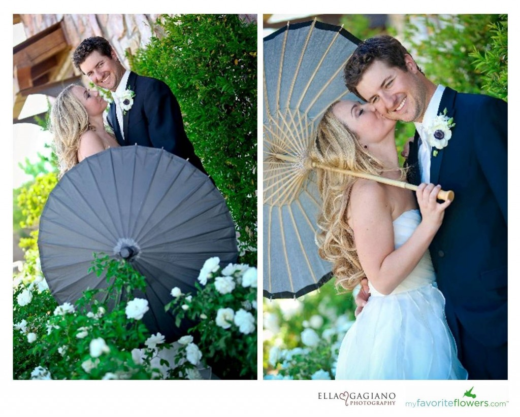 black wedding parasol for a bridal shoot