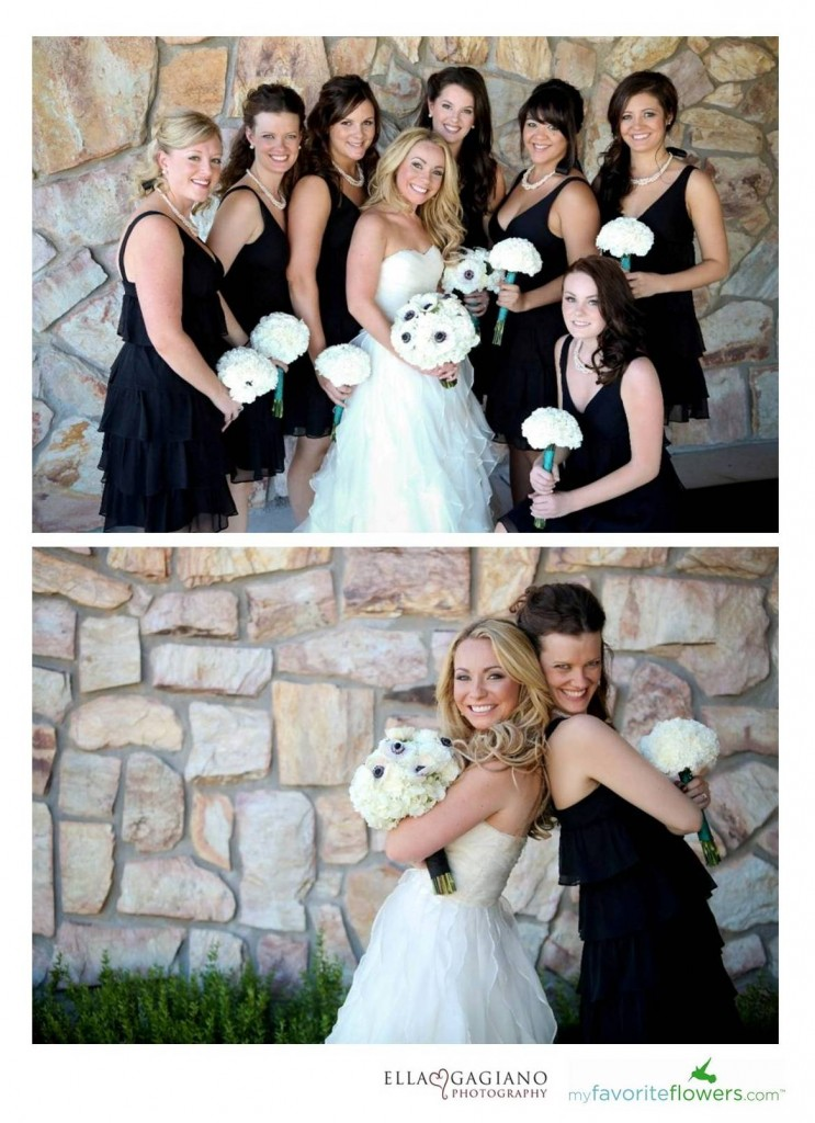 Made of Honor and Bridesmaids bouquets
