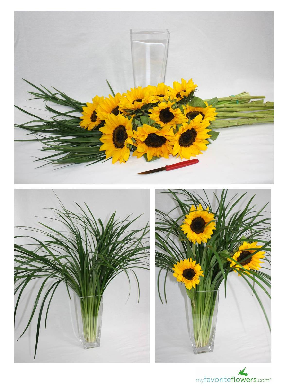 Diy easy steps to create sunflower arrangement