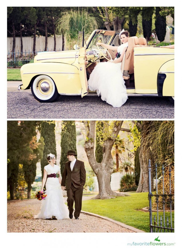 vintage car rental for a wedding